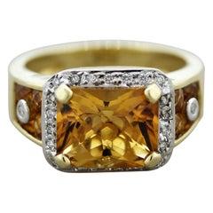 Bellarri Citrine Diamond Gold Ring