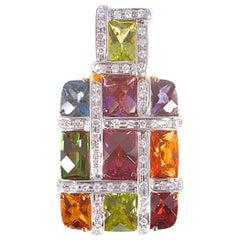 Bellarri Diamond and Multiple Gemstone Pendant