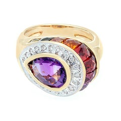 Bellarri Multi-Color Gemstone Diamond Gold Ring