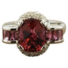 Bellarri Pink Topaz Diamond Gold Ring