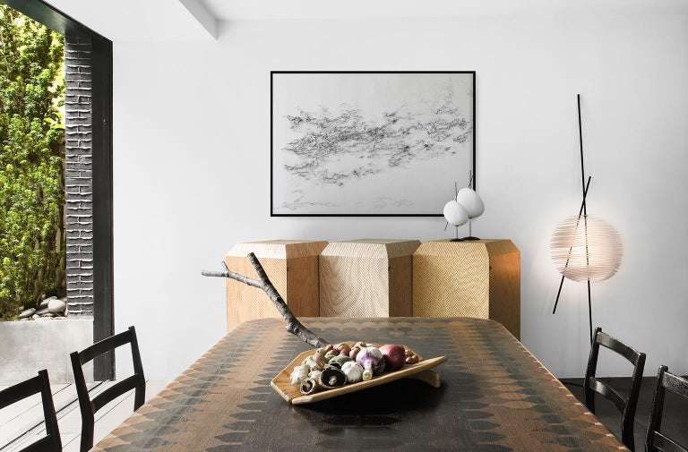 Lacquered Belle de Jour, Nomade Lamp in Resin, Linen and Metal, YMER&MALTA, France For Sale