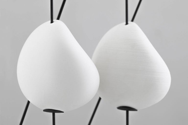 Other Belle de Nuit, Electric Lamp in Ceramic and Metal, L, YMER&MALTA, France For Sale