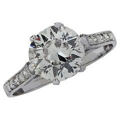 Belle Époque 1.63 Carat Old European Cut Diamond Engagement Ring