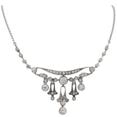 Belle Epoque 7.40 Carat Diamond Rare Necklace
