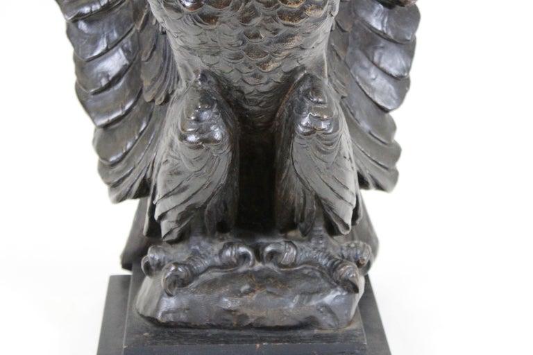 Belle Époque Belle Epoque Animalier Bronze Eagle Sculpture For Sale