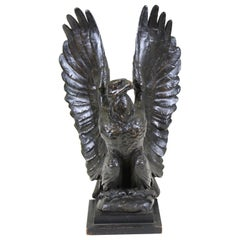 Belle Epoque Animalier Bronze Eagle Sculpture