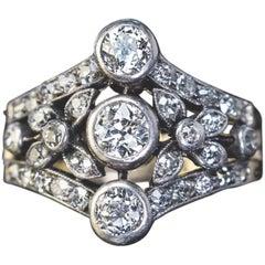 Belle Époque Antique Diamond Openwork Ring