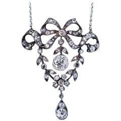 Belle Époque Antique Garland Style Diamond Necklace
