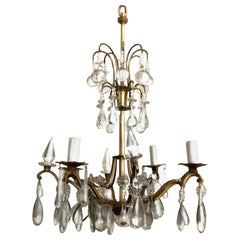 Belle Époque, Baccarat manner Mixed Metal & Crystal Diminutive Chandelier
