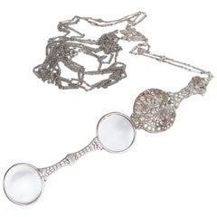 Belle Époque Diamond and Platinum Lorgnettes