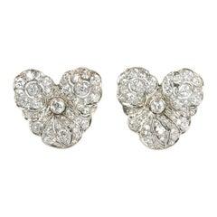 Belle Époque Diamond Earrings, 4.00ct
