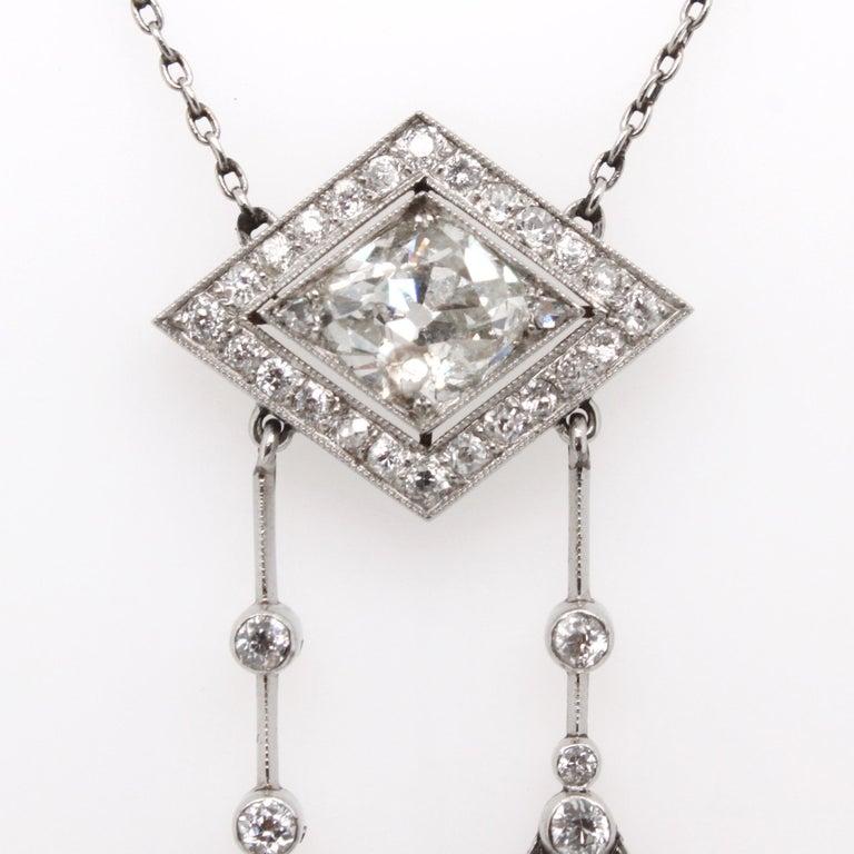 Belle Époque Diamond Negligee Lavalier, 1900 In Excellent Condition For Sale In Idar-Oberstein, DE