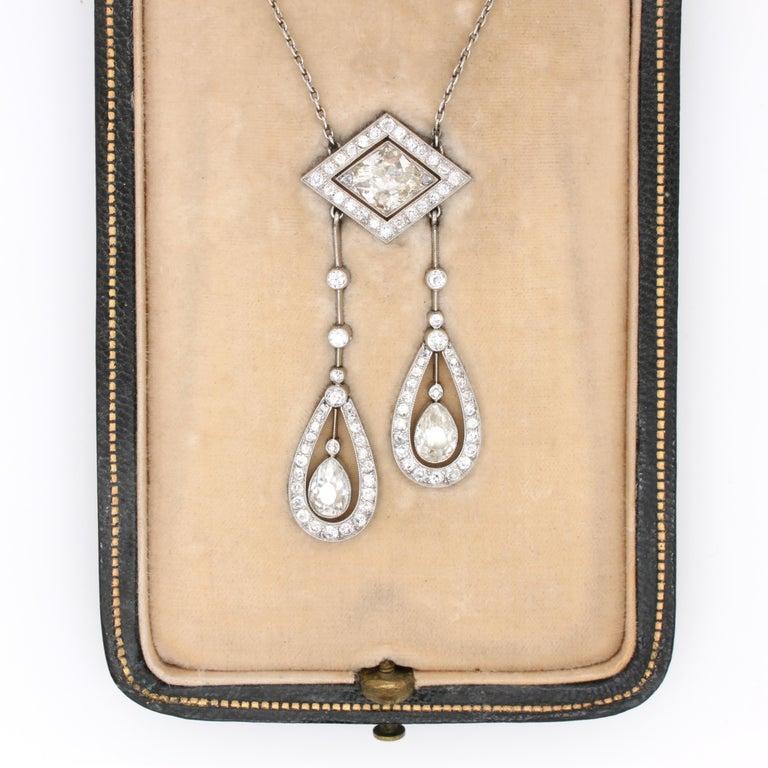Belle Époque Diamond Negligee Lavalier, 1900 For Sale 4