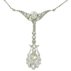 Belle Époque Diamond Pendant Necklace by Dutch Supplier to the Court