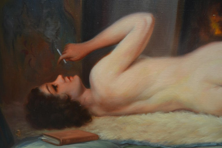 French Belle Epoque Female Nude Signed De Groux For Sale