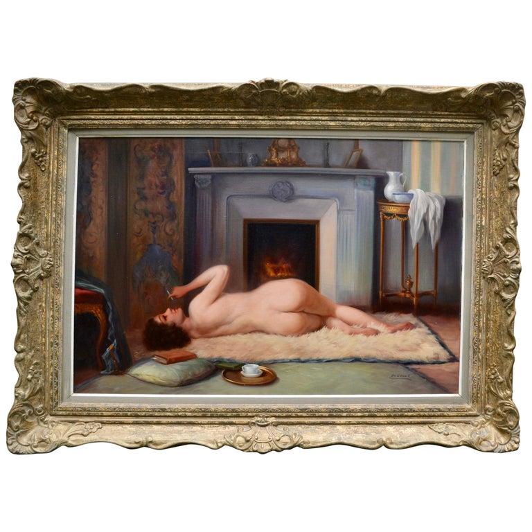 Belle Epoque Female Nude Signed De Groux For Sale