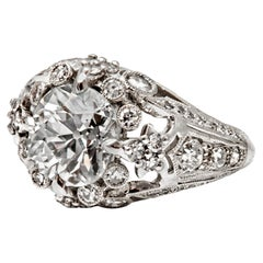 Belle Époque Inspired Diamond and Platinum Ring