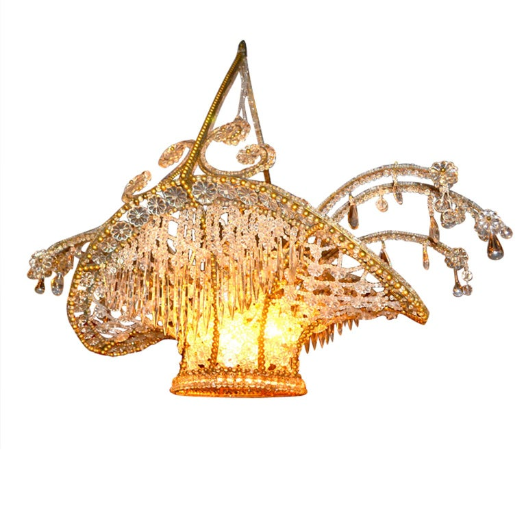 Chandelier Lighting Vancouver Bc: Belle Époque Late 19th Century French Crystal Beaded