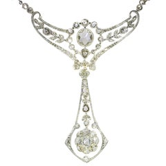 Belle Époque Multi Use Diamond Necklace and Pendant Made by Wolfers