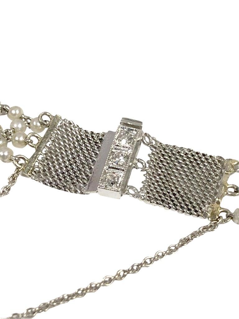 Women's Belle Epoque Platinum Diamonds and Pearl Ladies Mechanical Wrist Watch