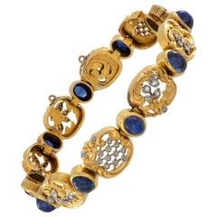 Belle Époque Sapphire and Diamond Bracelet
