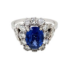 Belle Époque Sapphire Diamond Engagement Ring