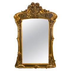 Belle Époque Style Wall or over Mantel Mirror Art Nouveau Form