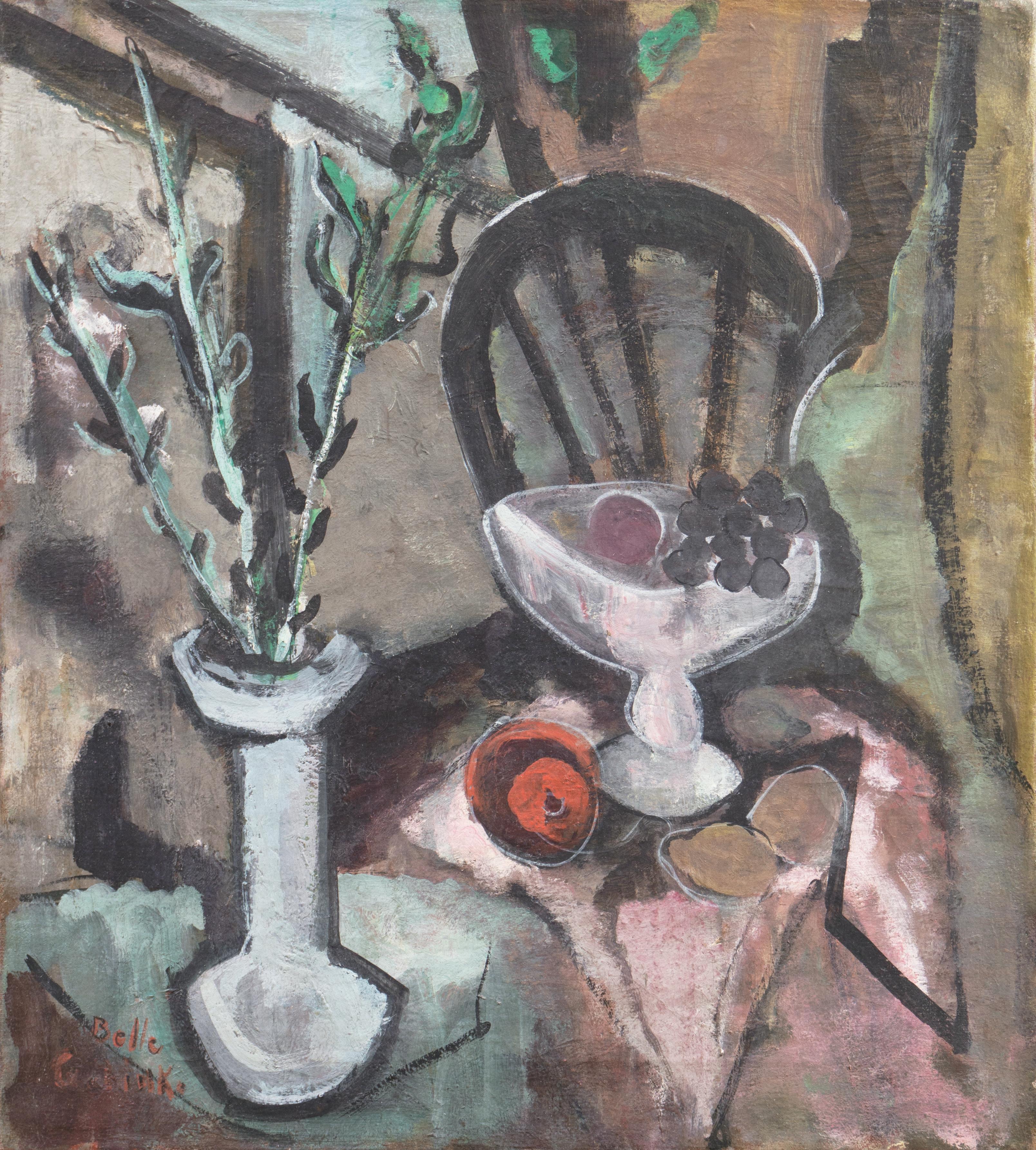 Modernist oil 'Interior with Still Life', Dallas Art Museum, Jewish Woman Artist