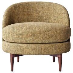 Belle Side Chair by DeMuro Das with Walnut Legs