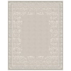 Belle Vue Pearl Hand Knotted Wool and Silk Rug 'Medium-Size'