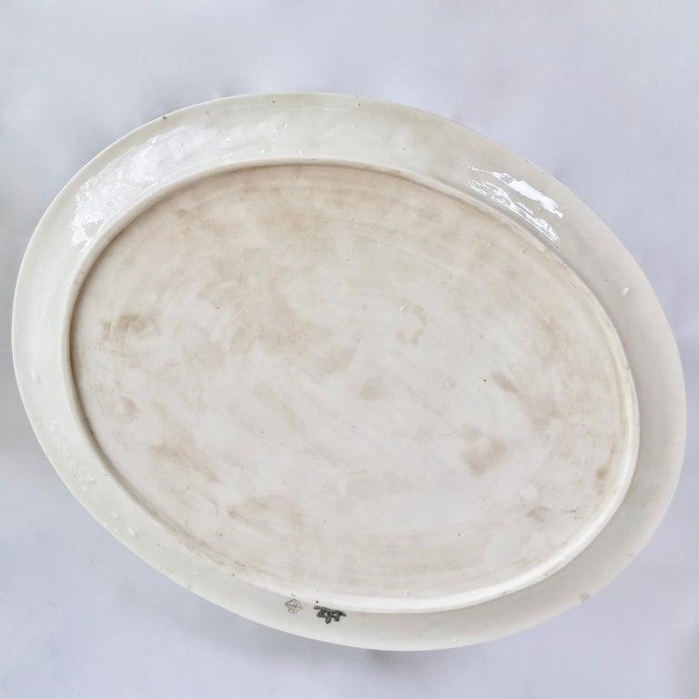 Belleek Porcelain Cabaret Tea Set, White Echinus, Victorian 1867-1926 For Sale 11