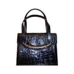 Bellesto Crocodile Handbag, Circa 1960's