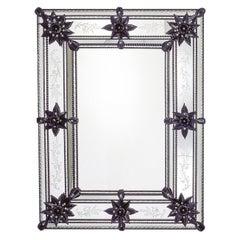 Bellini Murano Glass Mirror in Venetian Style