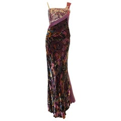Bellville Sassoon Hand Embroidered Multi Color Gown