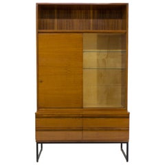 Belmondo Mahogany Cabinet with Shelves and Drawers in High Gloss Finish, 1970