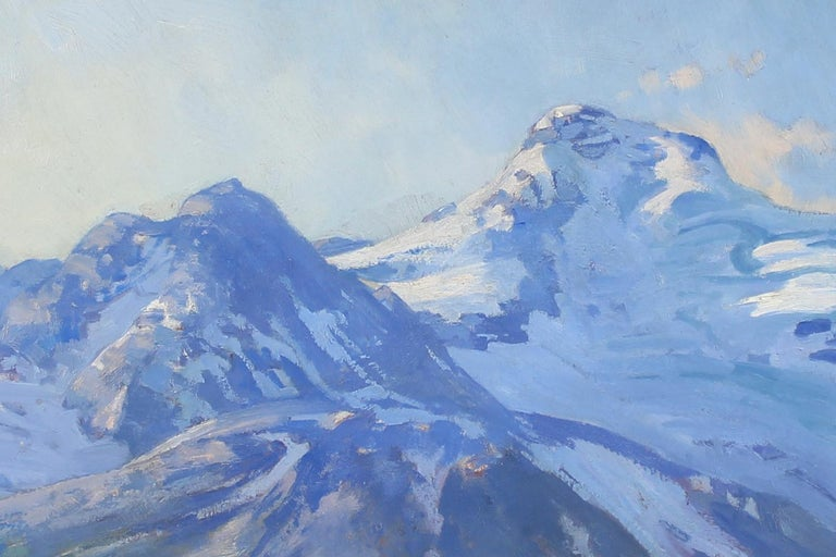 Mountain Landscape - Naturalistic Painting by Belmore Browne
