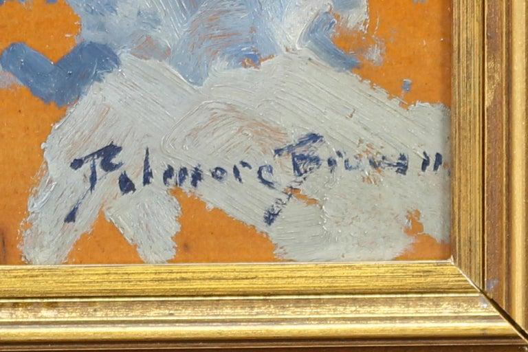 Mountain Landscape - Blue Landscape Painting by Belmore Browne