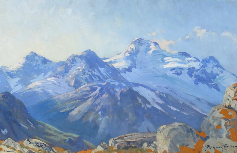 Belmore Browne Landscape Painting - Mountain Landscape