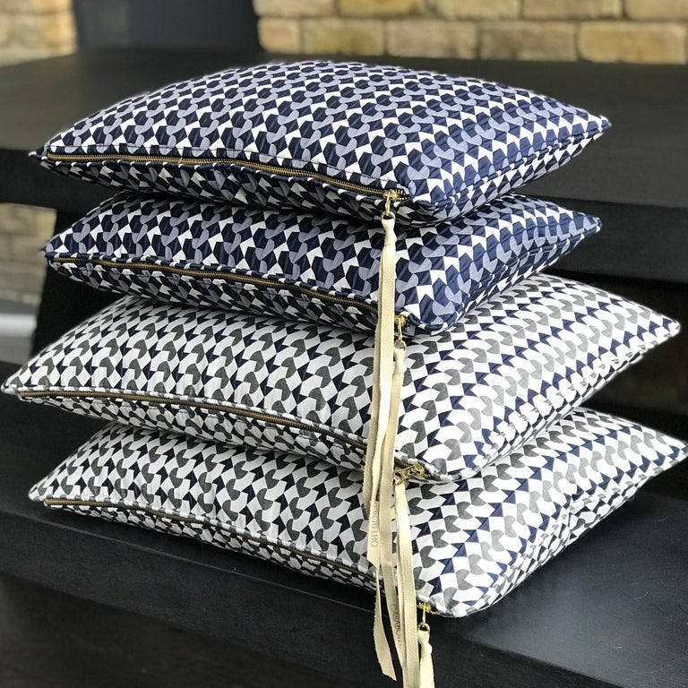 Modern Belo Pattern Cushion Curvature Collection Inspired by Brazilian Architecture For Sale