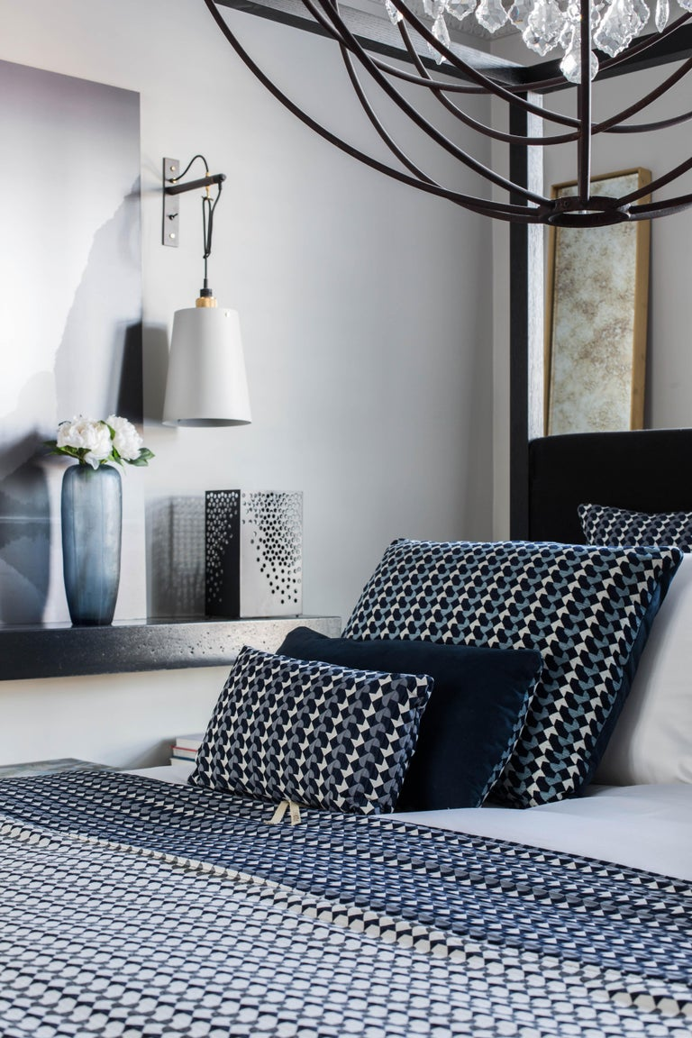 British Belo Pattern Cushion Curvature Collection Inspired by Brazilian Architecture For Sale