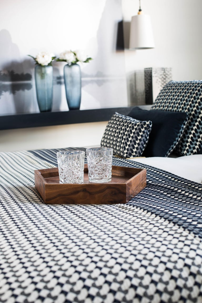 Contemporary Belo Pattern Cushion Curvature Collection Inspired by Brazilian Architecture For Sale