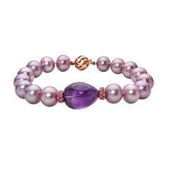 Kasumiga Pearl Bracelet Set in 18 Karat Rose Gold