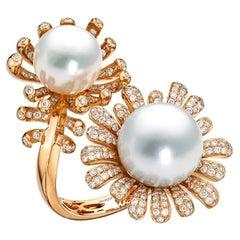 South Sea Pearl Ring Set in 18 Karat Rose Gold