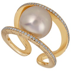 South Sea Pearl Ring Set in Gold