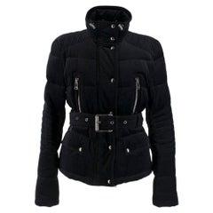 Belstaff black velvet jacket with down-duvet paddingSIZE M