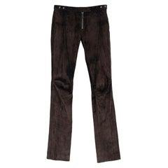 Belstaff Brown Suede Trousers 36