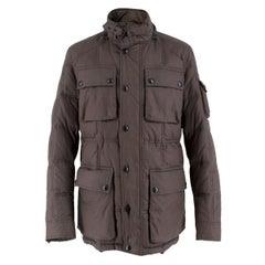 Belstaff Men's Dark Slate Grey Down Coated Jacket IT 44