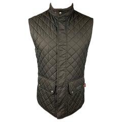 BELSTAFF Size S Black Quilted Polyester Snaps Vest
