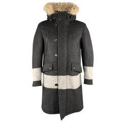 BELSTAFF Size S Charcoal Solid Wool Blend Parka Coat