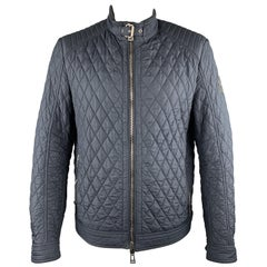 BELSTAFF Size XL Navy Quilted Polyester Zip Up Jacket